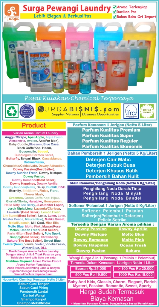DAFTAR HARGA HOUSEHOLD AND LAUNDRY CHEMICALS