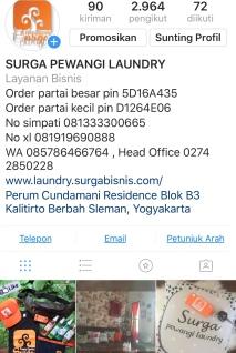Instagram surga pewangi laundry pusat jogja