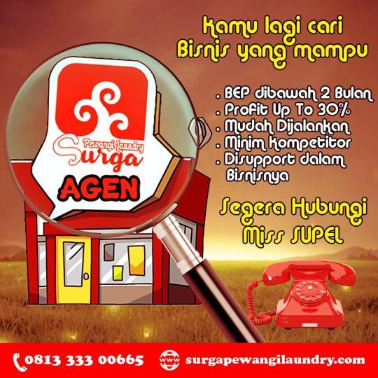 usaha agen parfum laundry Makassar