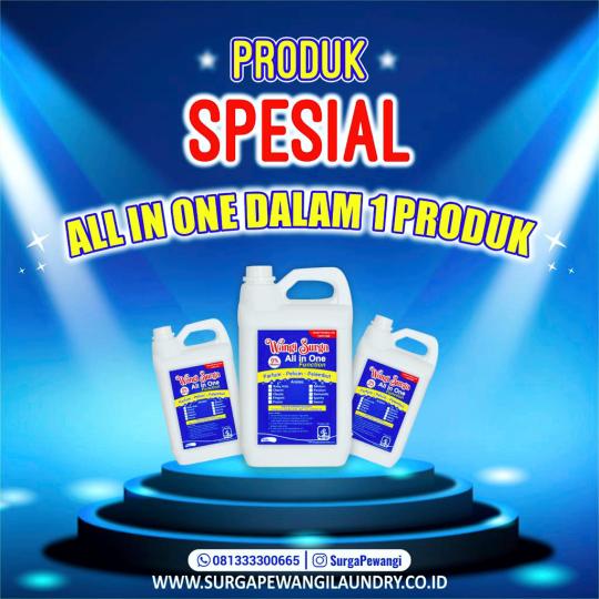 All in One Pelicin dan Pewangi Surga Pewangi Laundry Di Cirebon