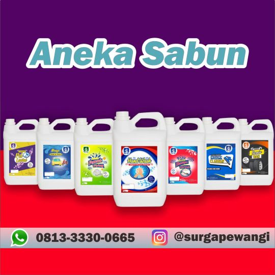 Distributor Aneka Sabun Surga Pewangi Laundry Sukoharjo