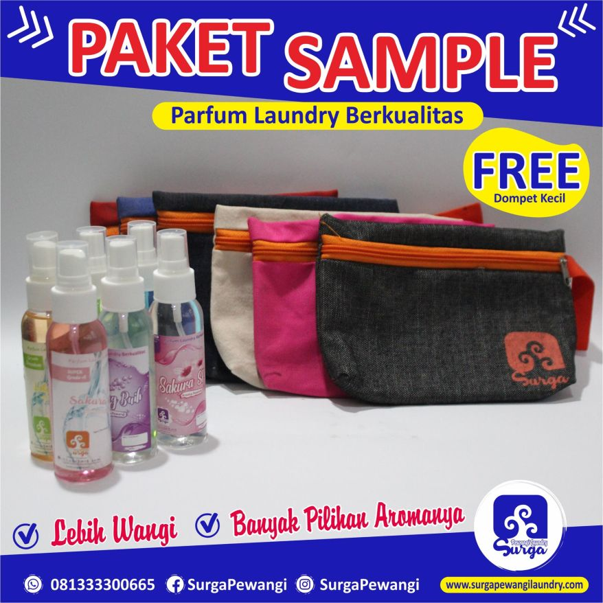 Paket sample pewangi laundry Cilacap